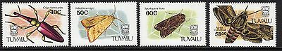 Tuvalu Sg601/4 1991 Insects Mnh