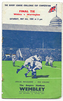 1950 - Widnes v Warrington, Challenge Cup Final Match Programme.