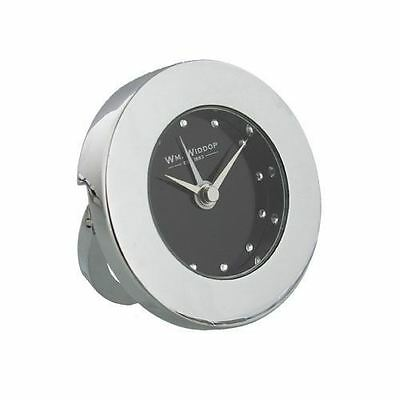 Widdop Travel Table Chrome Plated Round Alarm Clock 9760