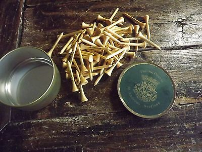 Vintage Golf Tee Tin The Old Course St Andrews Scotland 60 Wooden Tees Printed