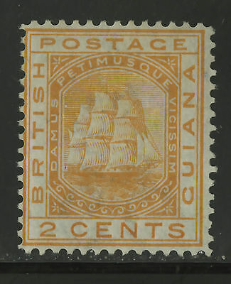 British Guiana  1876  Scott #  73  Mint Lightly Hinged Removed