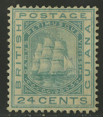 British Guiana  1876  Scott #  78  Mint Hinged