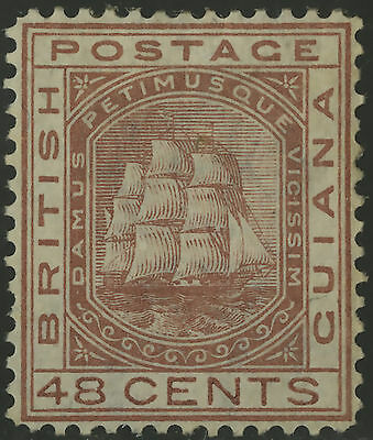 British Guiana  1876  Scott #  79  Mint Hinged Removed