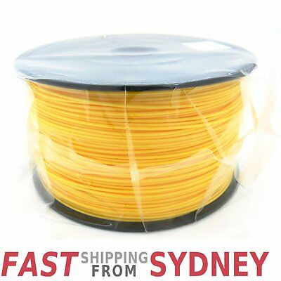 3D Printer Filament ABS 1.75mm Yellow 1kg Roll, FAST shipping SYDNEY