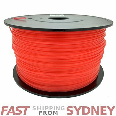 3D Printer Filament ABS 1.75mm Transparent Red 1kg Roll, FAST shipping SYDNEY