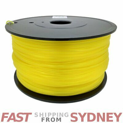 3D Printer Filament ABS 1.75mm Transparent Yellow 1kg Roll, FAST shipping SYDNEY