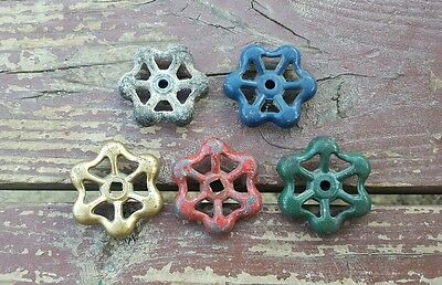 Vtg Water Valve Handles Knobs Steampunk  Industrial Altered Arts Crafts Lot of 5