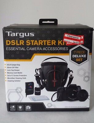 Targus Dslr Starter Kit Essential Camera Accessories 7 Piece Deluxe Set