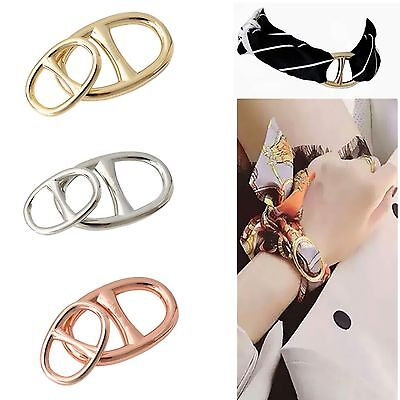 Brand Charm H Scarf Clip Copper Scarf Holder Scarf Buckle Silver Scarf Ring