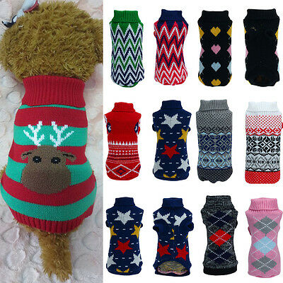 Winter Pet Dog Warm Clothes Puppy Shirt Sweater Cute Costume Jacket Coat Apparel
