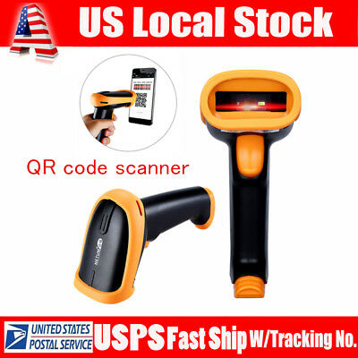 Mini MJ-2877 Bluetooth 2D Barcode Scanner QR Data Reader for iPhone Android USA