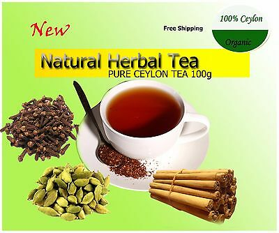 CEYLON ORGANIC HERBAL TEA MIX100g (Cinnamon ,Cardamon Cloves mix BOFP) FREE SHIP