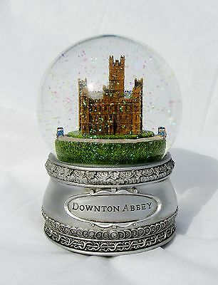 """Nib Large Downton Abbey Musical Water Globe Plays God Save The Queen 6.75"""" H"""