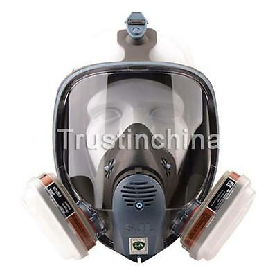 7 piece Suit Respirator Fully Facepiece Gas Mask for Painting Spraying 6800