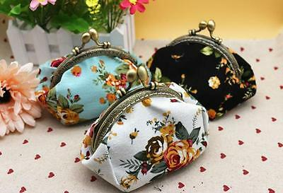 Women Lady Retro Vintage Flower Small Wallet Hasp Purse Clutch Bag Coin Purse