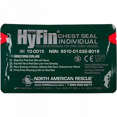 Hyfin Individual Chest Seal Dressing Open Chest Wounds treatment  injuries Gauze