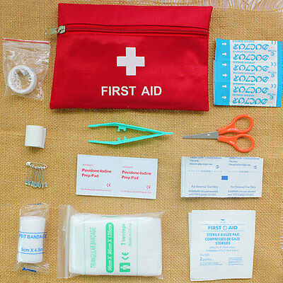 First Aid Bag Camping Hiking Travel SOS Survival Emergency Pouch Kit Gear Set