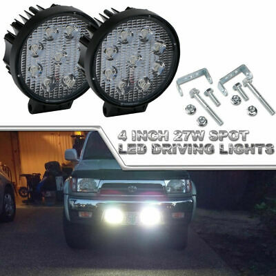 Pair 4 Inch 18W Cree LED Spot Work Light Bar Off road Driving Pods Suv Boat 4X4