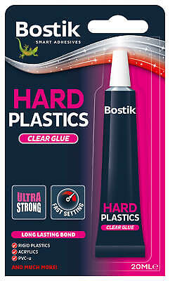 1 x Bostik bostick hard plastics clear extra strong adhesive glue 20ml 80214 new