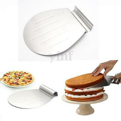Stainless Steel Transfer Tray Moving Plate Cake Lifter Shovel Pizza Server Tool