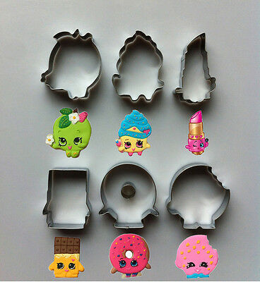 New Shopkins Cookie Biscuit Mold Cutter 6pcs Set