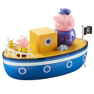 Peppa Pig on Grandpa Pig's Bathtime Floating Boat & 2 Figures Toy Playset