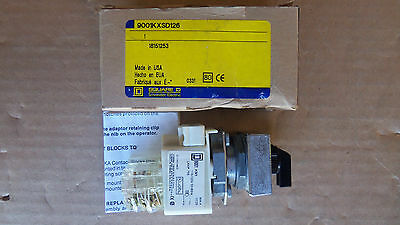 New Square D 9001KXSD126 Maintained 3 Position Switch Hand/Off/Auto