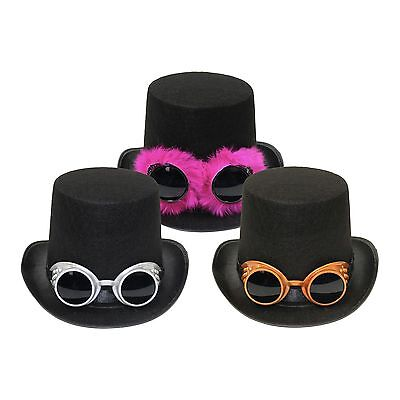 Adults Victorian Industrial Steampunk Top Hat & Goggles