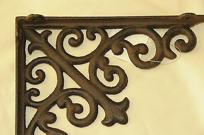 (2) Tuscan Brown Iron Corbels, shelf brackets,countertop support,cornices NWT