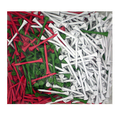 """500 Pack of 2 3/4"""" Watermelon Color Mix Wood Golf Tees"""