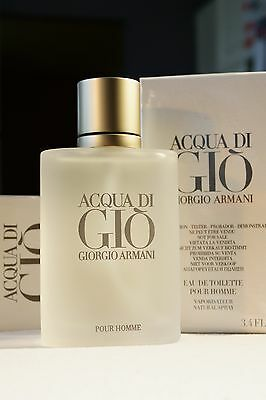 ACQUA DI GIO 3.4 oz MEN GIORGIO ARMANI SPRAY EDT 100ML NEW TESTR BOX POUR HOMME