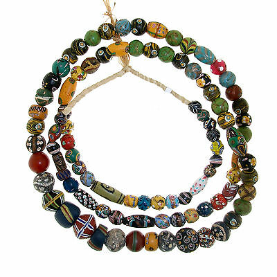 Antique Murano Trade Glass Beads Strand - Africa Venezia - 19th c. -  (0160)