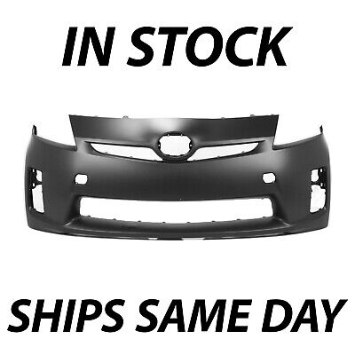 NEW Primered Front Bumper Cover Fascia for 2010 2011 Toyota Prius w/o HL Washers