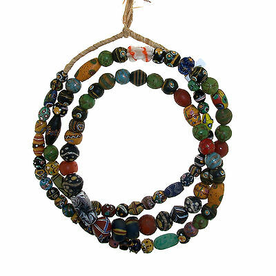 Antique Murano Trade Glass Beads Strand - Africa Venezia - 19th c. -  (0162)
