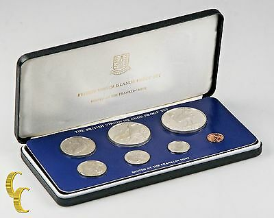 1979 British Virgin Islands Proof Sets, Rare, All Original 7 coins w/ Case