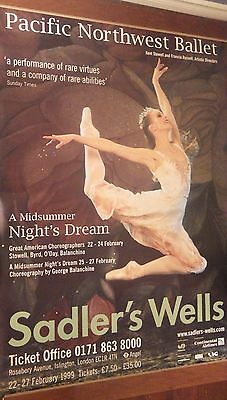 "40x60"" SUBWAY POSTER~Pacific Northwest Ballet Midsummer Night's Dream Sadler's~"