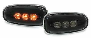CRYSTAL SMOKED SIDE REPEATERS INDICATORS MERCEDES W210 W208 SLK VITO SPRINTER T3