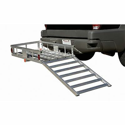 500 Lb Aluminum Mobility Wheelchair Scooter Carrier with Ramp
