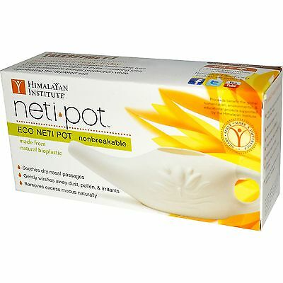 Eco Neti Pot Travel Himalayan Chandra Nasal Cleansing Irrigation Biodegradable