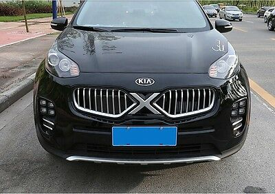 fit for KIA aluminium all new sportage 2016-17 front mesh grille grill vent bar