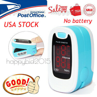 With Case Finger Pulse Oximeter Blood Oxygen SPO2 Pulse Heart Rate OLED Monitor