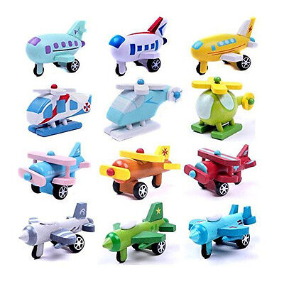BT Set of 12 Wooden Airplane Model Educational Toys