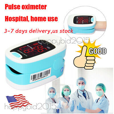 2018 Pulse Oximeter Fingertip with Case, Blood Oxygen Finger Meter Heart Rate