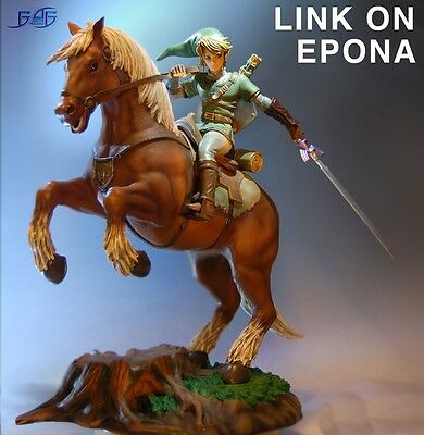 "Link on Epona Statue 17"" The Legend of Zelda Ocarina of Time by First 4 Figure"
