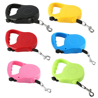 Quality 3M/5M Long Retractable Dog Pet Lead For Training Leash Extendable SY