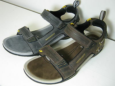 Mens Clarks Victus Part Grey Or Brown Nubuck Leather Sandals
