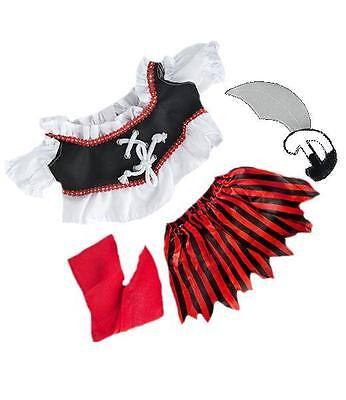 "8"" PIRATE GIRL TEDDY BEAR CLOTHES OUTFIT FITS 8""-10"" (40cm) TEDDY BEARS"