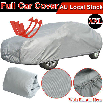 XXL Large Universal Full-size Car Cover Water Resistant UV Sun Bird Protection