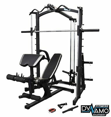 Home Gym Smith Machine linear bearing Lat Pull down FID Bench Cable Attachments