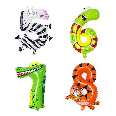 1pc 16inch Helium Foil Balloons Number Birthday New Year Party Decorations